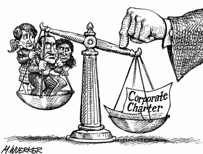 Corporate Power balanced against the people