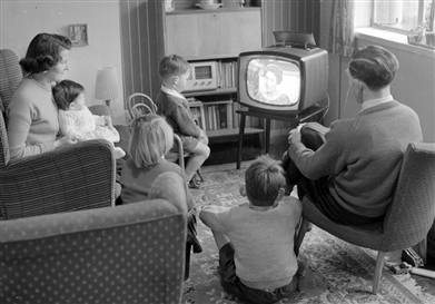 middle class watching tv