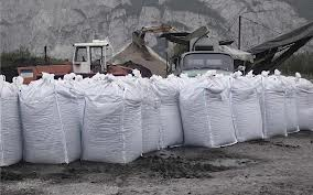 sacks of soil