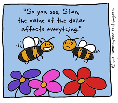 Bees and the economy cartoon 1