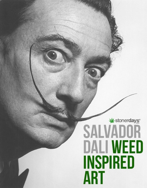 salvador-dali-weed-isnpired-art