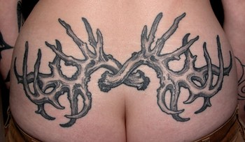 butt tattoo antlers