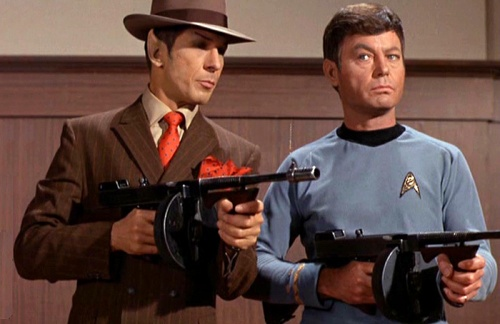 star trek spock mccoy guns