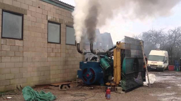 diesel generator exhaust