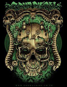 sour diesel skull