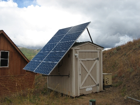 solar panel shed
