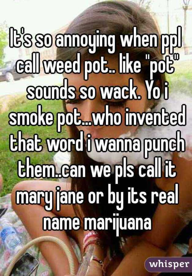pot sounds whack