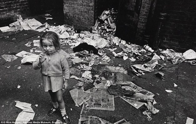 newspapers litter girl