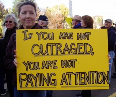 outraged pay attention
